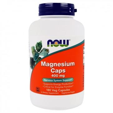 Magnesio Caps 400mg 180 vegcaps NOW Foods