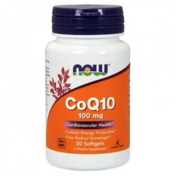 CoQ10 100mg 50 SGELS NOW Foods