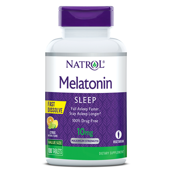 Melatonin 10mg/serv F/D Tab-100 HFF V3 flavor: Citrus NATROL