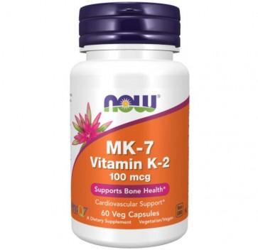 MK7 Vitamina K-2 100 mcg Veg Capsules NOW Foods