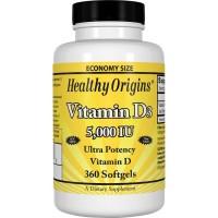 Vitamina D3 5.000 360s Healthy Origins