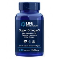 Super Omega-3 EPA/DHA with Sesame Lignans & Olive Extract. 240sLIFE Extension
