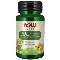G.I. Support Chewable Tablets for Dogs & Cats Now foods Pets