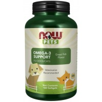 Omega 3 Support Softgels for Dogs & Cats Now foods Pets
