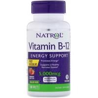 Vitamina B-12 5000mcg F/D 100 tabs NATROL