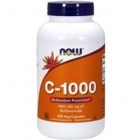 C 1000 Vitamina 100 veg caps 100mg bioflavonoids NOW Foods