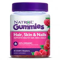Hair Skin & Nails Gummies Beauty, Raspberry, 90ct Natrol