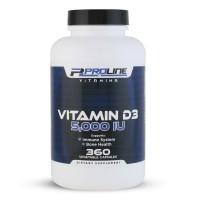 Vitamina D3 5.000 360 veg caps PLV Proline Vitamins