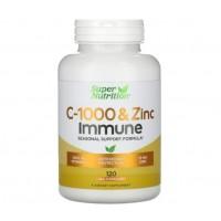 Vitamina C 1,000 and Zinc Immune 120 vcaps